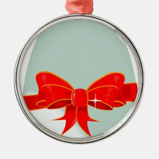 Egg and Ribbon Christmas Ornament
