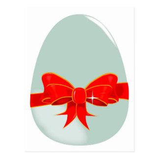 Egg and Ribbon Postcard