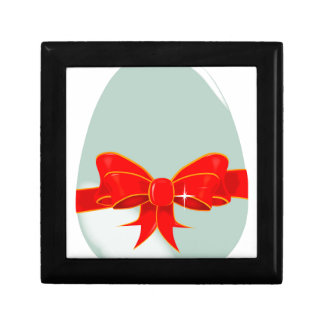 Egg and Ribbon Small Square Gift Box