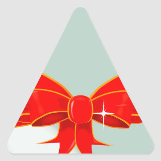 Egg and Ribbon Triangle Sticker