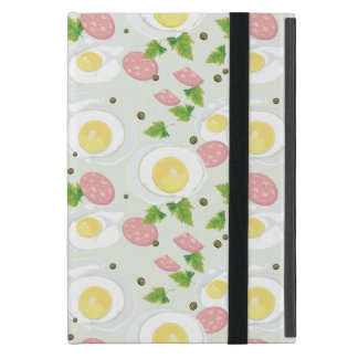 Egg and Sausage Pattern iPad Mini Cover