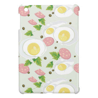 Egg and Sausage Pattern iPad Mini Covers