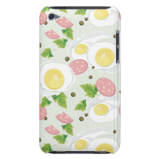 Egg and Sausage Pattern iPod Case-Mate Case