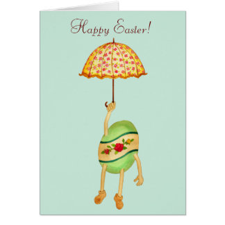 Egg and Umbrella Easter Card