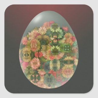 Egg Blossoms Square Sticker