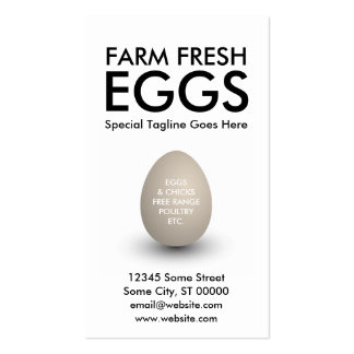 egg Double-Sided standard business cards (Pack of 100)