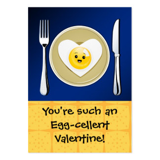 Egg-cellent Kawaii Valentine Pack Of Chubby Business Cards