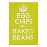 EGG CHIPS and BAKED BEANS Print