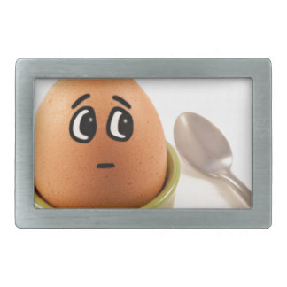 Egg emotions. rectangular belt buckles