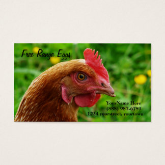 Egg Farm Rhode Island Red Hen  Business Cards
