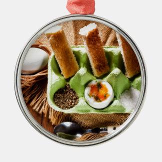 Egg for breakfast. christmas ornament