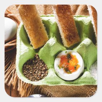 Egg for breakfast. square sticker