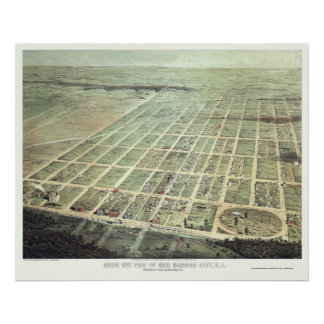 Egg Harbor City, NJ Panoramic Map - 1865 Poster