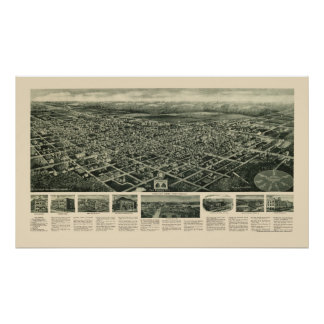 Egg Harbor City, NJ Panoramic Map - 1924 Poster