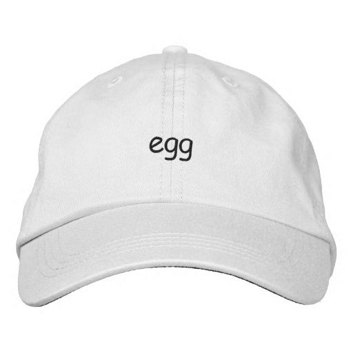 Egg hat embroidered baseball caps