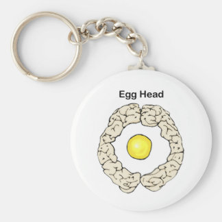 Egg Head Basic Round Button Key Ring