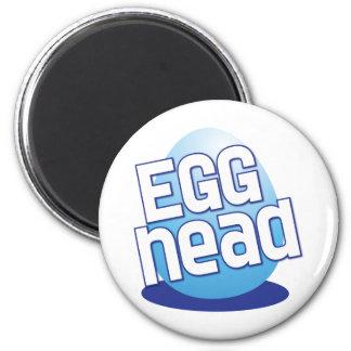 egg head easter bald funny 6 cm round magnet