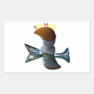 Egg Head Quirky Designs Rectangular Sticker