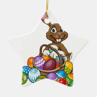 Egg Hunt Easter Bunny Ceramic Star Decoration