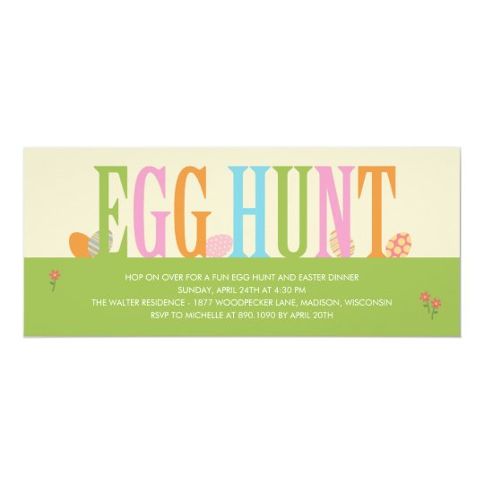 Egg Hunt Easter Party Invitation