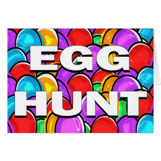Egg Hunt Invitation Greeting Card