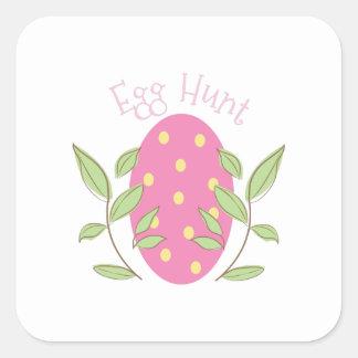 Egg Hunt Square Sticker