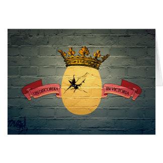 Egg King Graffiti greeting card