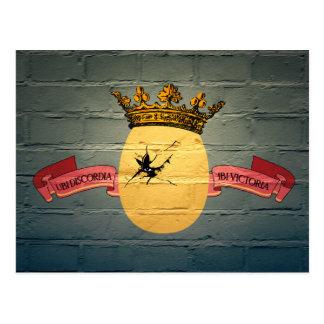 Egg King Graffiti postcard