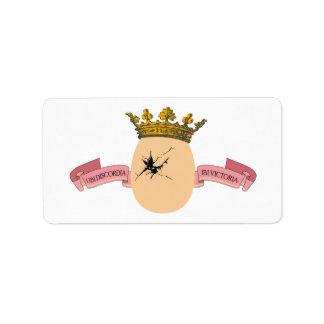 Egg King label Address Label