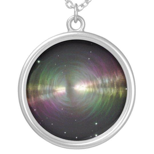 Egg Nebula Silver Plated Necklace