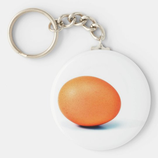 Egg On The White Background Key Ring