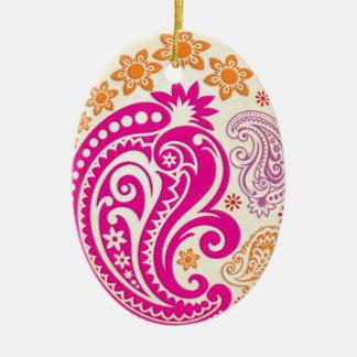 Egg Ornament - Pastel Paisleys 1B