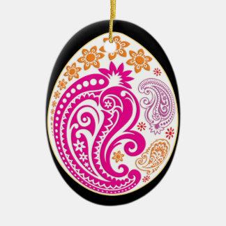 Egg Ornament - Pastel Paisleys 2NBG