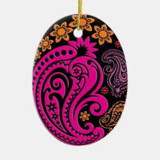 Egg Ornament - Pastel Paisleys 3B