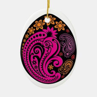Egg Ornament - Pastel Paisleys 3NBG