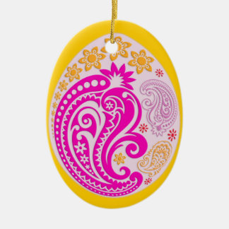 Egg Ornament - Pastel Paisleys 4NBG