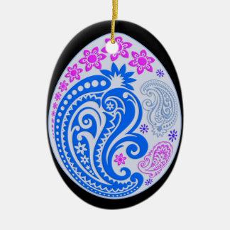 Egg Ornament - Pastel Paisleys 5NBG