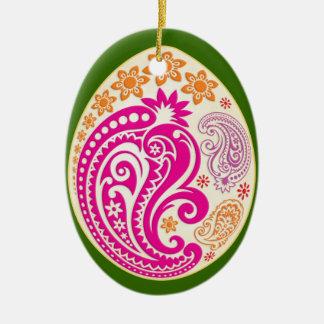 Egg Ornament - Pastel Paisleys - NBG