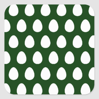 Egg Pattern Square Sticker