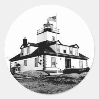 Egg Rock Lighthouse Round Sticker