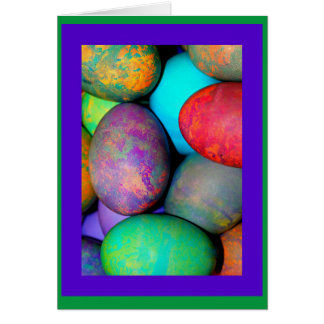 Egg-stra Special Easter Brightly Dyed Eggs Greeting Card