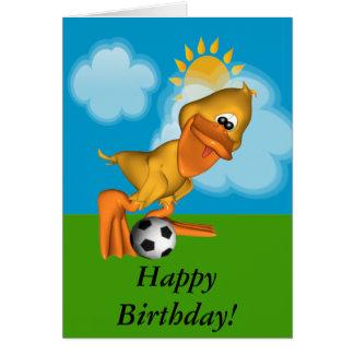 Eggbert The Duck Happy Birthday Card