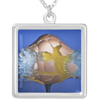Eggceptional Square Pendant Necklace