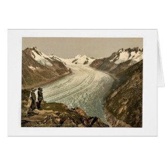 Eggishorn, Grand Aletsch Glacier, with Jungfrau, M Card