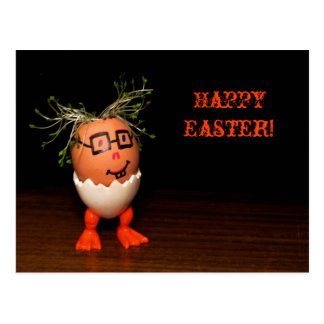 Eggman from Eggmen Series Text Easter Postcard