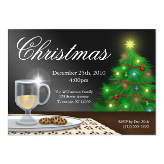 Eggnog and Cookies Christmas Invitations