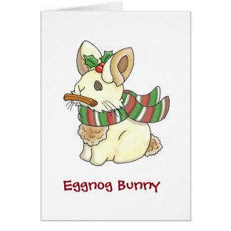 Eggnog Bunny Greeting Card