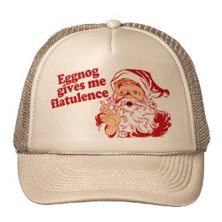 Eggnog Gives Santa Flatulence Cap