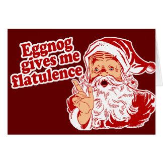 Eggnog Gives Santa Flatulence Card