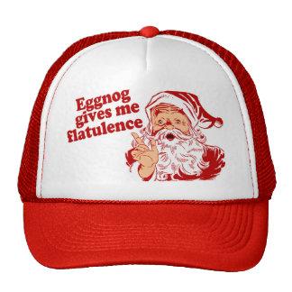 Eggnog Gives Santa Flatulence Mesh Hats